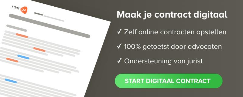 online contract opstellen