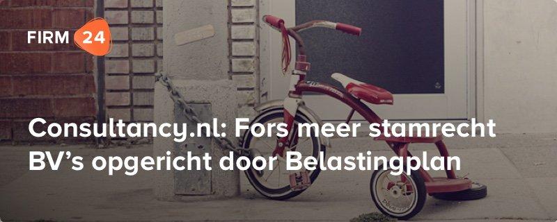 Consultancy.nl: Fors meer stamrecht BVs opgericht door Belastingplan